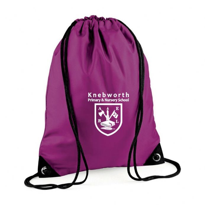 Knebworth Primary Purple PE Bag